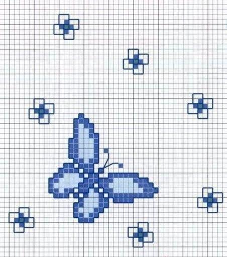 Mariposas en punto de cruz.
