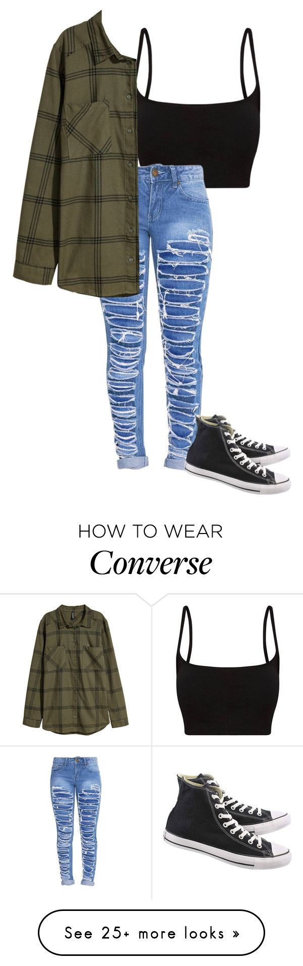 """""""Untitled #656"""" by clairebears4150 on Polyvore featuring Converse"""