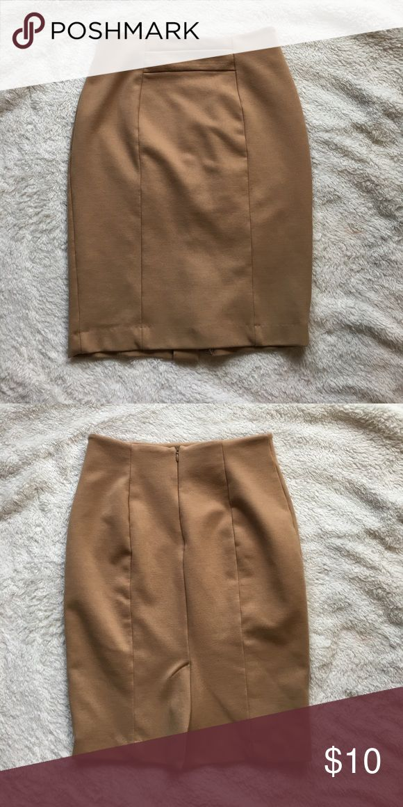Tan Pencil Skirt Very sophisticated pencil skirt. Gently worn. Tag is removed from the inside. Skirts Pencil