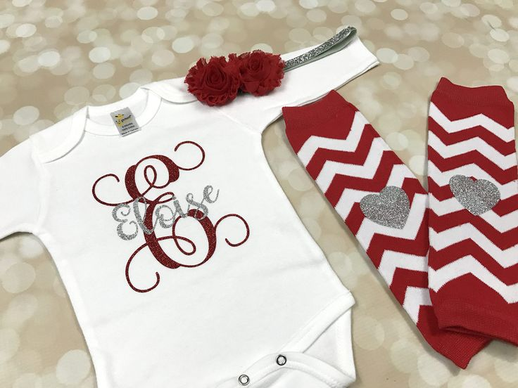 7 best new baby gifts images on pinterest little boys clothes personalized newborn coming home outfit red and silver monogrammed baby girl clothes baby negle Gallery