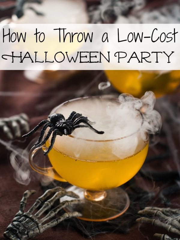 how to throw a low cost halloween party