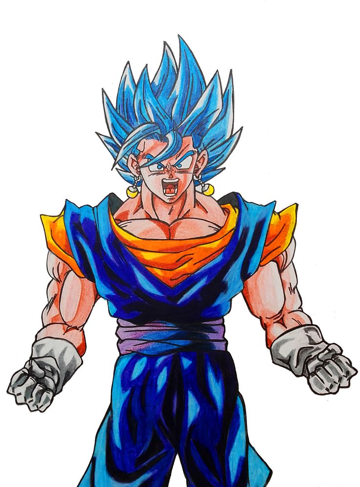 Vegetto Super Saiyajin Dios Azul DRAGON BALL SUPER