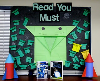 "I read Origami Yoda to my 4th graders last year & they loved it!    Great bulletin board idea for kids to make their own origami yodas and suggest good reads to their classmates.    Also read ""Darth Paper"" :)"