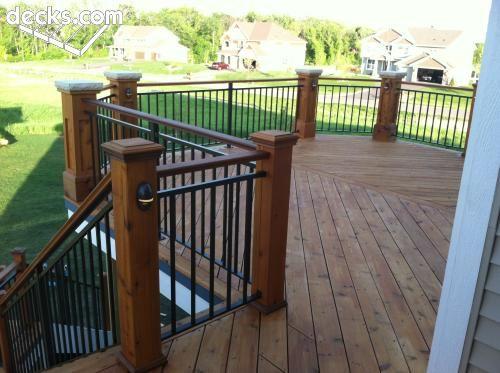 Custom railing on custom deck deck designs outdoor for Custom deck plans
