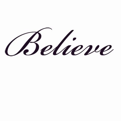 tattoos that say believe | believe customizable wrist temporary tattoo pack 6 tattoos per pack ...