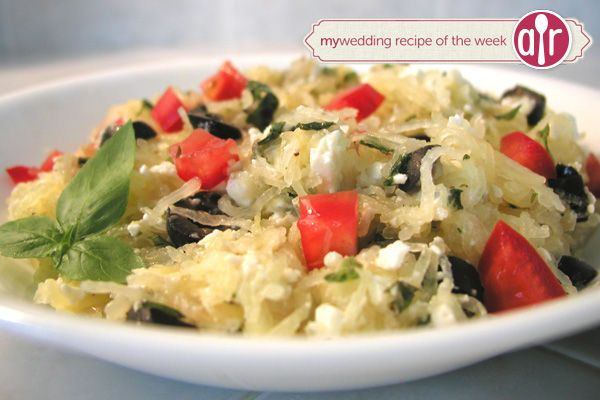 This tasty pasta alternative makes a hearty and simple meal. Thanks to allrecipes for sharing!  Ingredients:    1 spaghetti squash, halved lengthwise an