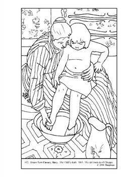 Mary Cassatt Coloring Page