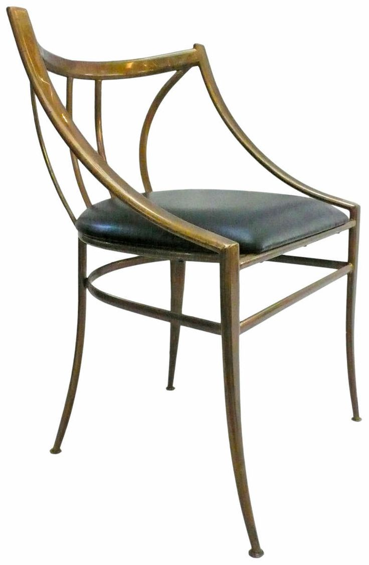 Elegant Brass And Black Leather Chair ChairLeather ChairsSide ChairsDining RoomsBrass