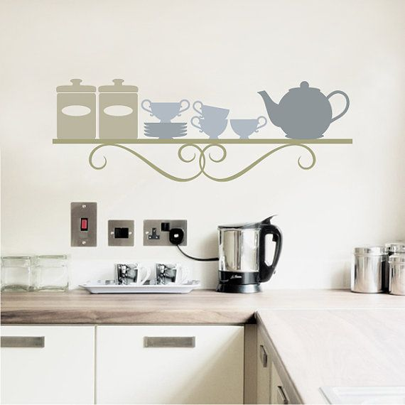 Kitchen Wall Decal   Dining Room Wall Decals   Kitchen Shelf   Wall Stickers    Custom