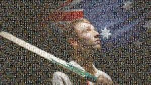 "Mosaic of ""Put Your Bats Out"" The Australian"