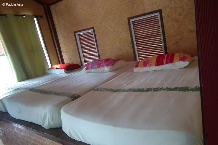 Big soft beds in the floating bungalows