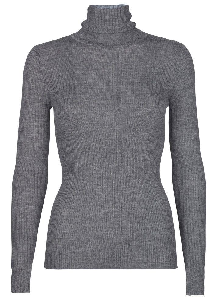 Storm & Marie Bluse grå 22103 Nap Turtleneck - grey melange – Acorns