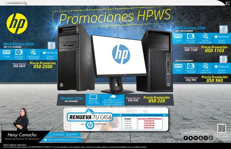 Promociones HP WorkStation: Contacta a tu gerente de producto para más información: Heisy Camacho Celular: 310 773 8901 Email: heisy.camacho@sed.international #HP #SED #SEDCOLOMBIA