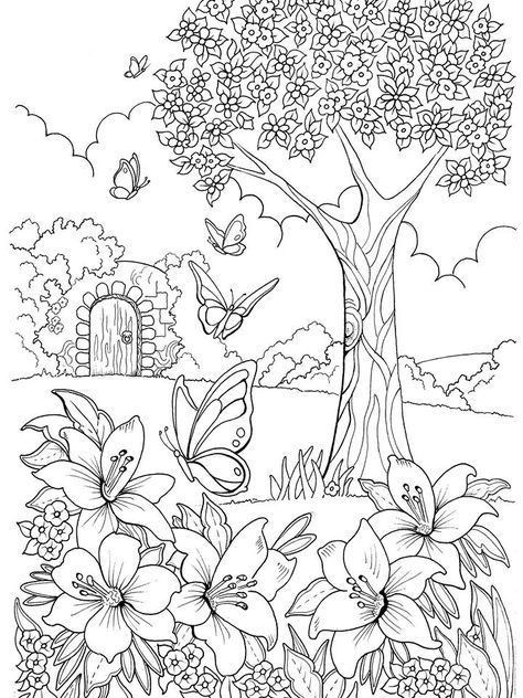 Pin By Gisleine Fernanda On Coloring Pages Garden Coloring Pages Mandala Coloring Pages Coloring Books