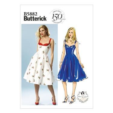 Butterick B5882 Misses' Dress - Has boning