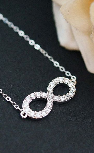 Infinity charm Necklace Bridesmaid Jewelry Bridesmaid Gift