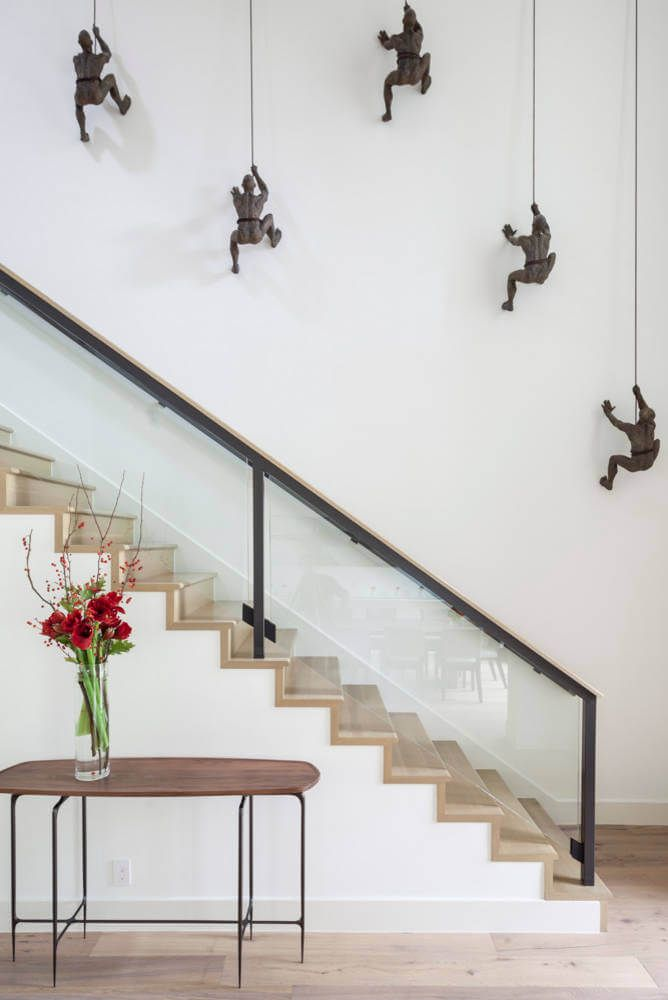 44 Beautiful and Unique Stair Design Ideas For Home ... on Creative Staircase Wall Decorating Ideas  id=88565