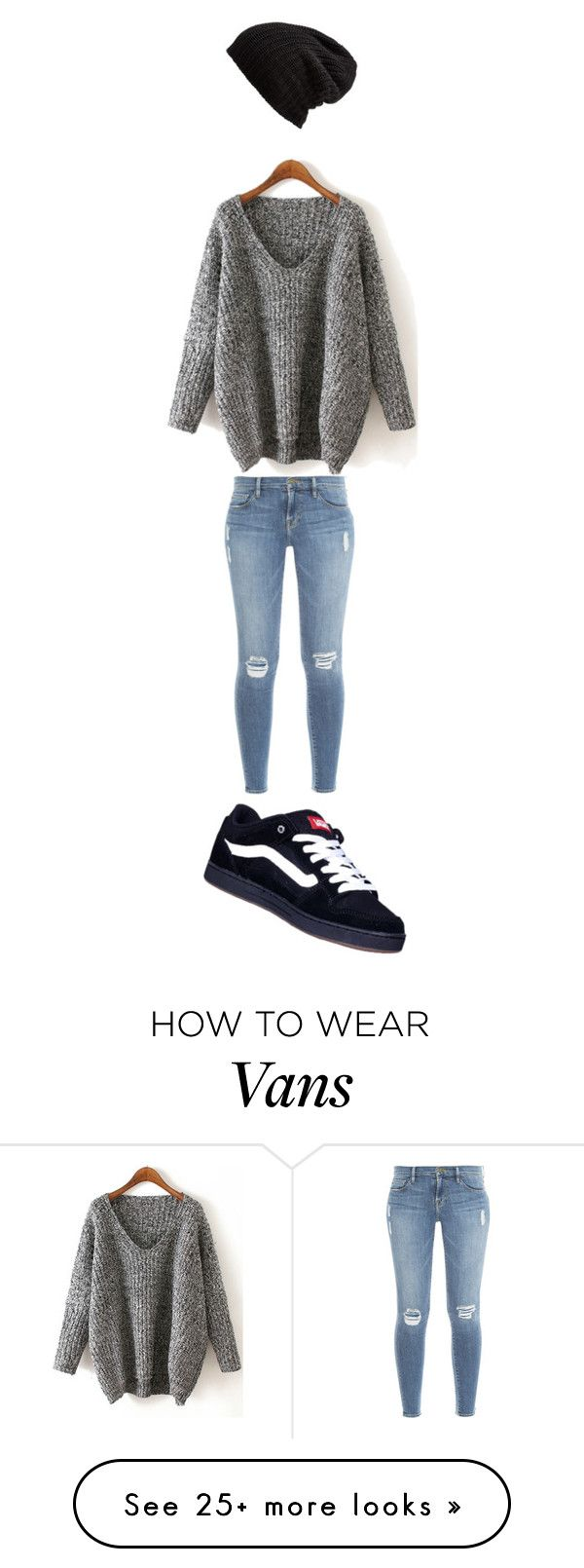 """ROMWE CONTEST"" by ismar-dzina on Polyvore featuring Frame Denim, Vans and Free People"