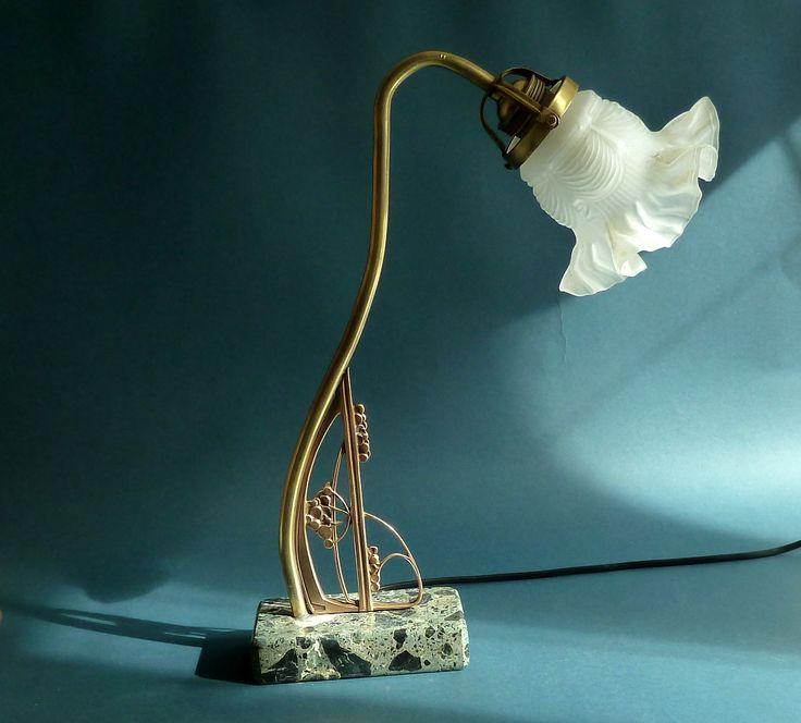 Art nouveau  desk  lamp https://www.etsy.com/your/shops/DALESARTS/tools/listings/stats:true/550483220