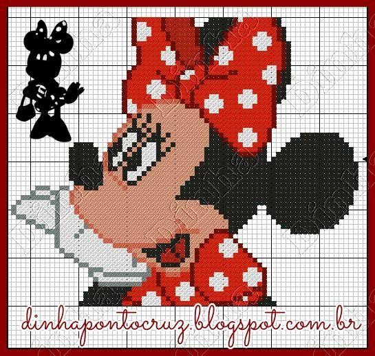Boa semana a todos!  Hoje é a vez da ratinha Disney:     dar uma cara nova ao mesmo gráfico para satisfazer as encomendas é o melhor dos d...