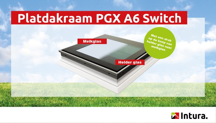 Platdakraam Intura PGX A6 Switch - met een druk op de knop van helder naar melkglas