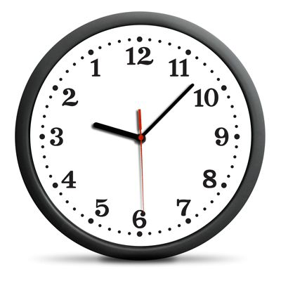Zegar cofający czas. - Zegary ścienne