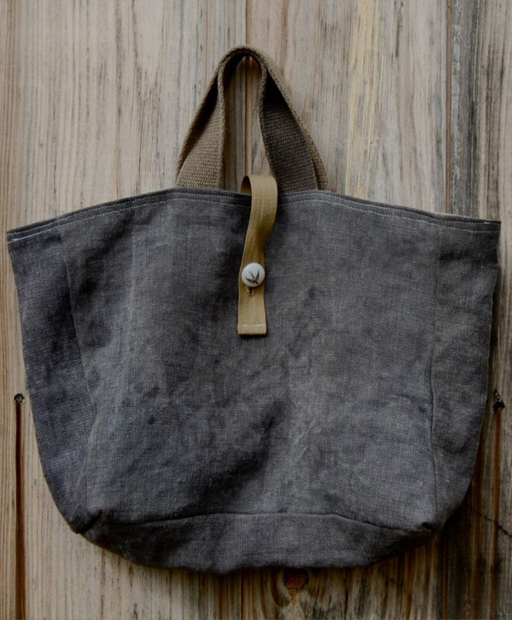 Enhabiten swallow tote naturally hand dyed hemp