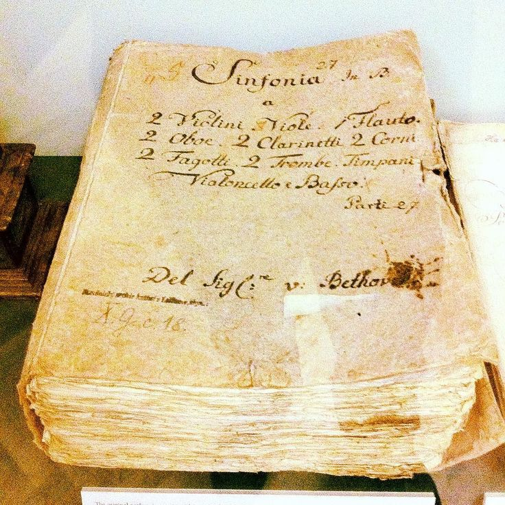 Hard to explain the feeling of being in the presence of #manuscripts by #Ludwig van. . . . . . #music #beethoven #master #handwritten #symphony #orchestra #composer #classical #magic #paper #history #legend #score #composition #violin #viola #cello #bass #woodwind #brass #prague #castle #lobkowicz #palace