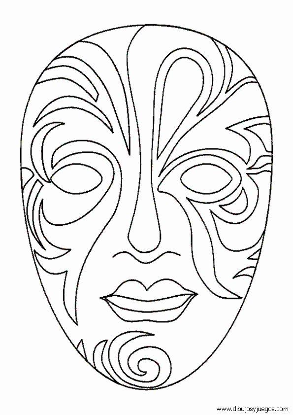 Mascaras De Teatro Para Colorear | Pintar imágenes