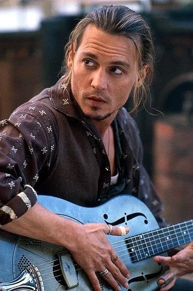 Johnny Depp in Chocolat.