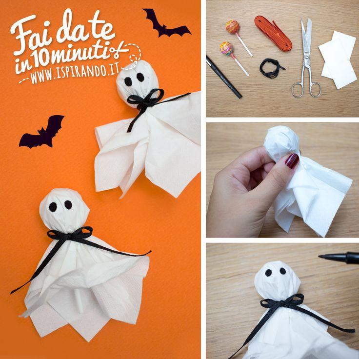 Come creare simpatici fantasmi Chupa Chups per Halloween! - DIY lollipop ghost for Halloween • #DIY #halloween #ghost #lollipop
