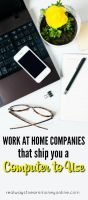 Here's a list of work at home companies that will send you a computer to do the work on.
