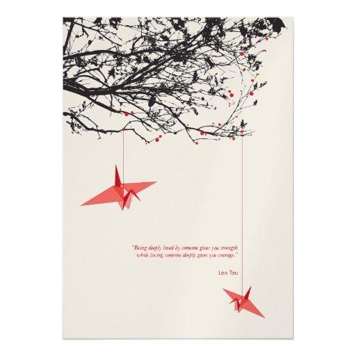 Origami Crane Wedding Invitations | ... Origami Paper Cranes Wedding Invitation Personalized Invitations