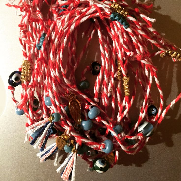 Red&white cord= Martis bracelet in Greek tradition Eshop Marilizashop. Λείπει ο Μάρτης απο τη Σαρακοστή;  Wear it from the 1st - end of March so that the sun of early spring doesn't burn our cheeks!!
