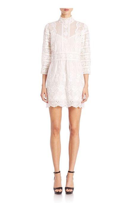 Victorian Cotton Button Back Short Dress by Marc Jacobs | Brides.com