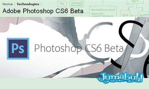 Bajar Photoshop CS6 Beta! | Jumabu! Design Tools - Vectorizados - Iconos - Vectores - Texturas