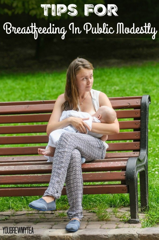 These Tips For Breastfeeding In Public Modestly will help you to feed your baby with ease no matter where you are!