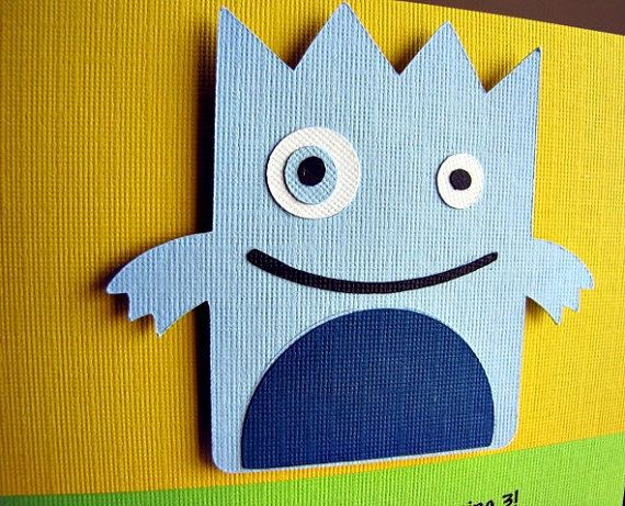 Little Monster Party Invitation by ScrapYourStory on Etsy, $2.50