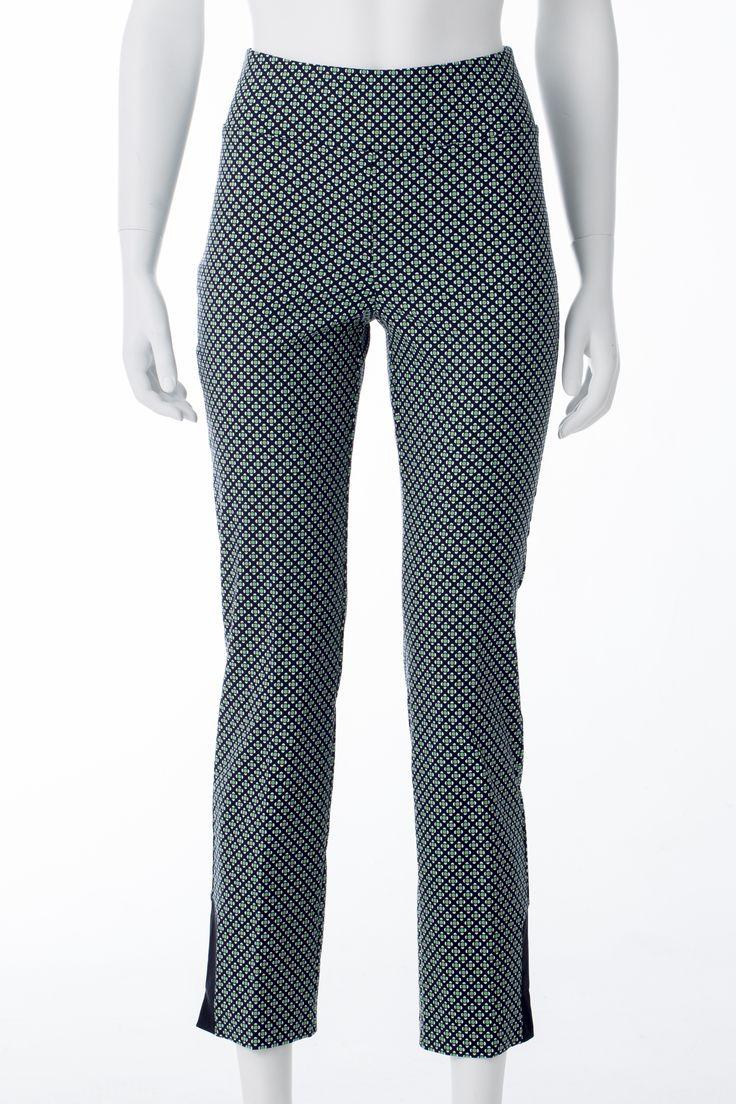 Pantalons verts imprimés, MELANIE LYNE, 85$ * Green printed pants, MELANIE LYNE, $85