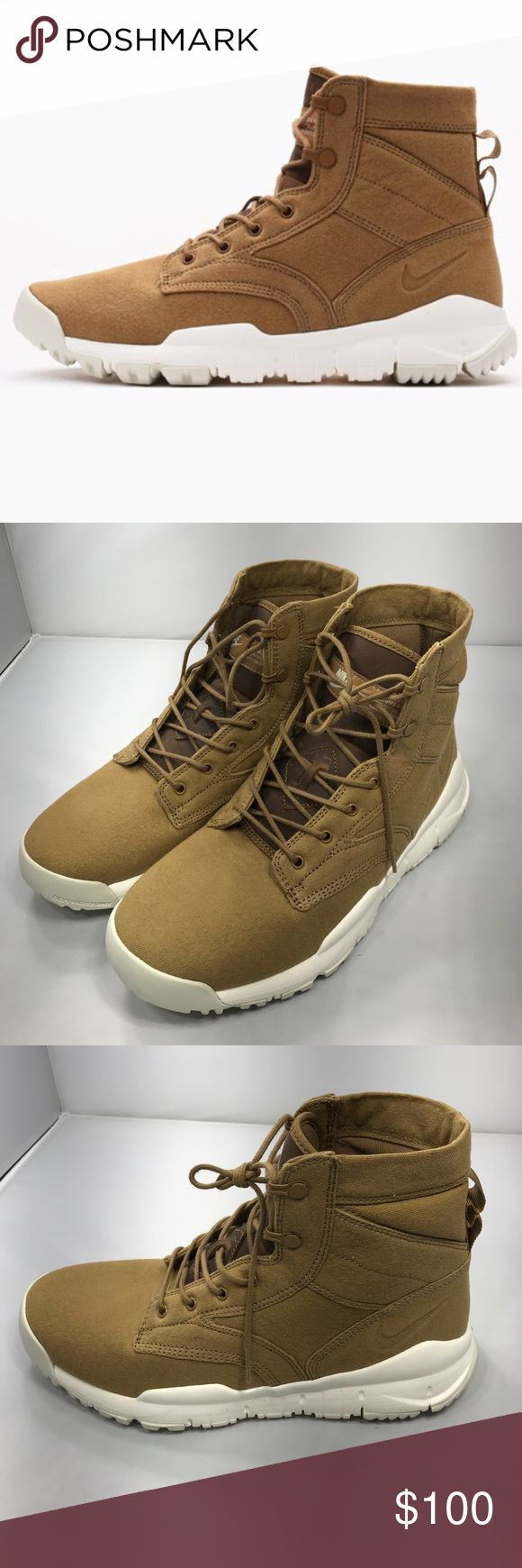 "New Nike SFB 6"" Canvas NSW New without box, Nike Canvas Boot in Golden Beige. This Limited Edition Special Field Boot has a lightweight canvas upper, a memory foam sockliner, and a lug patterned sole made from sticky rubber, for extra traction. 844577 200 Nike Shoes Boots"