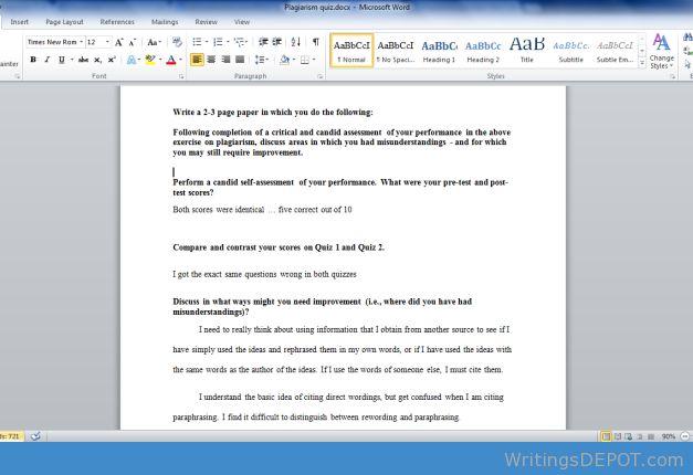 test essay for plagiarism