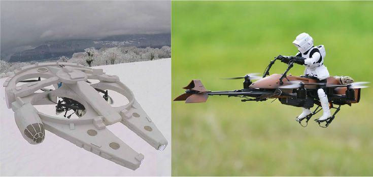 5 naves de Star Wars transformadas em miniaturas voadoras de controle remoto