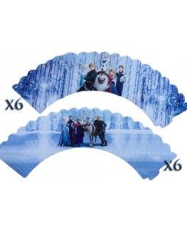 24pcs Frozen Cupcake Wrappers & Topper Picks