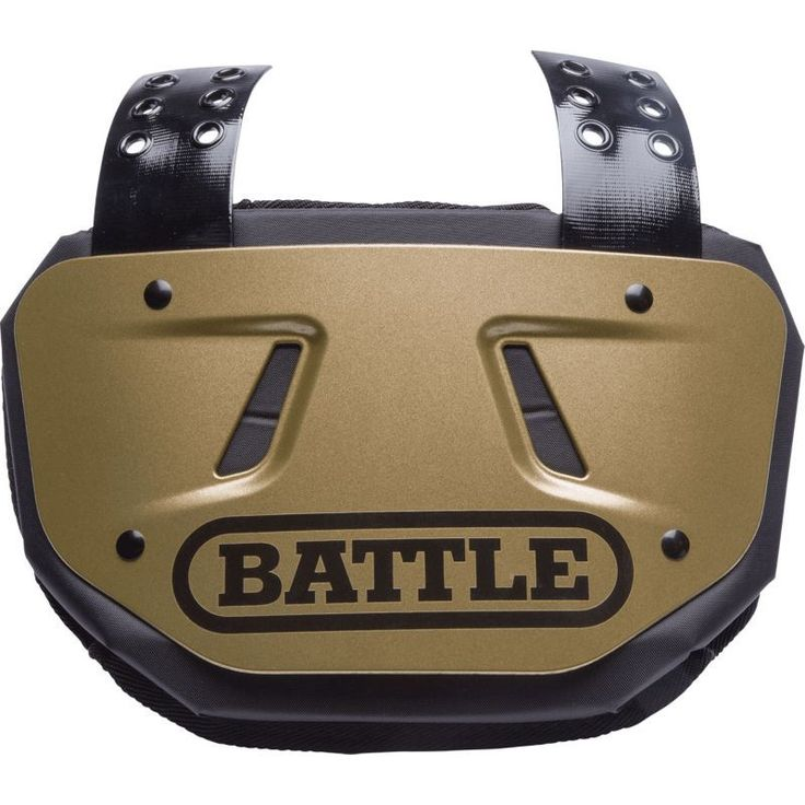 Battle adult football back plate gold football back