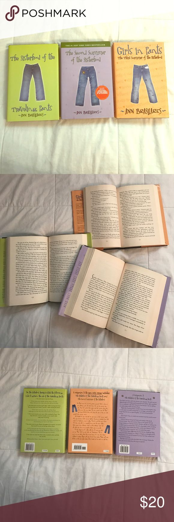 THE SISTERHOOD OF THE TRAVELING PANTS  BOOK SERIES Excellent condition   Loved reading these as a teenager, now they're just collecting dust, would rather them go to someone who will read them ☺ Covers are a little dirty/dusty Other