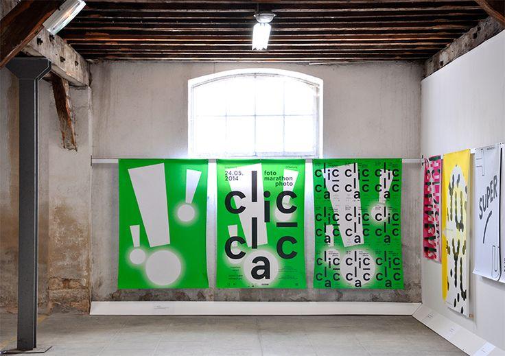 """L'affiche """"Clic-Clac"""" dans la sélection internationale du festival international de l'affiche et du graphisme de Chaumont. Mai 2015"""