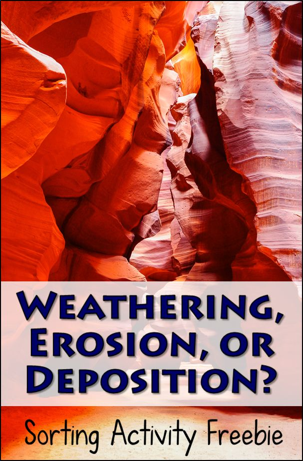 Weathering, Erosion, or Deposition? This post includes teaching tips and a free sorting activity to help students understand these earth science concepts dealing with landforms.