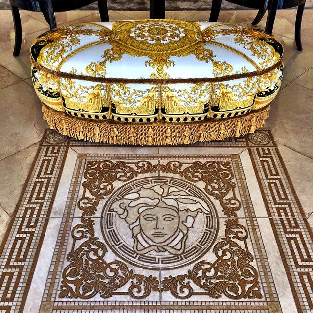 VERSACE HOME  Salone Oval Pouf