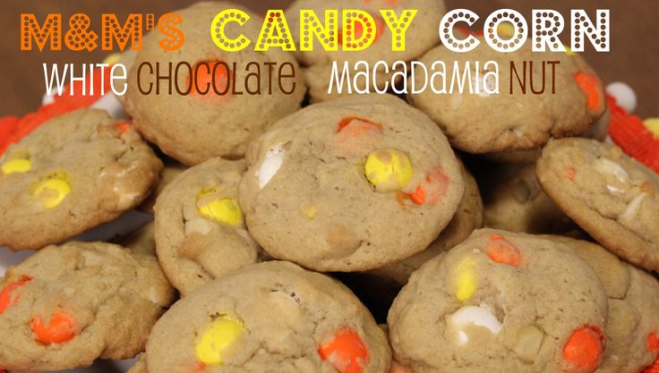 M's Candy Corn White Chocolate Macadamia Nut Cookies