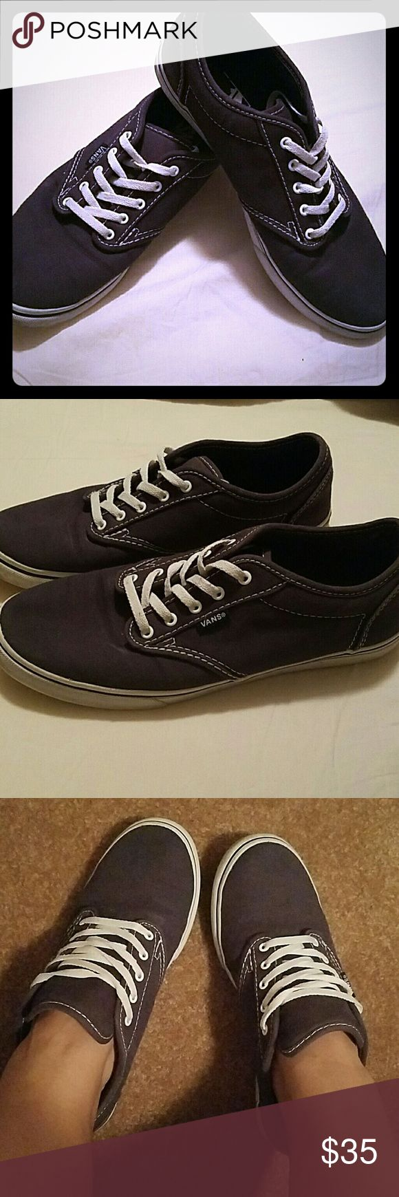 Navy vans Navy and white vans Lightly worn In good condition Very comfortable Vans Shoes Sneakers